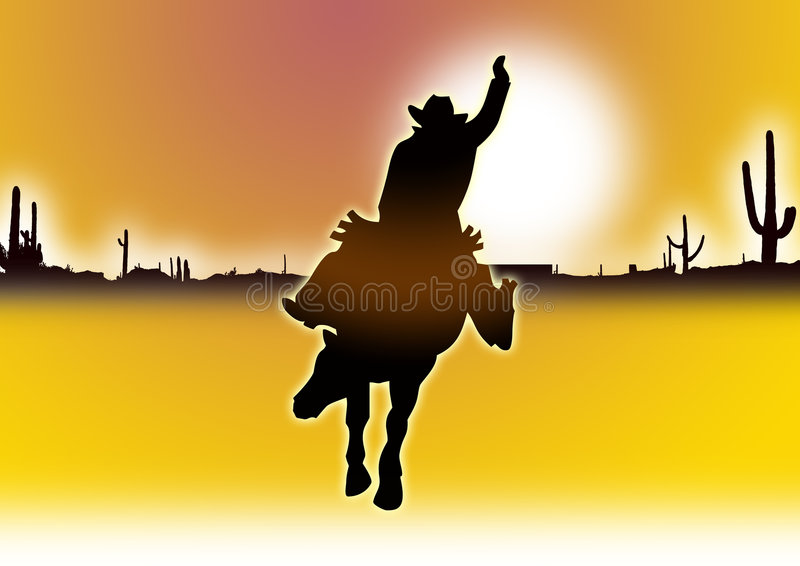 желтый цвет ковбоя иллюстрация вектора