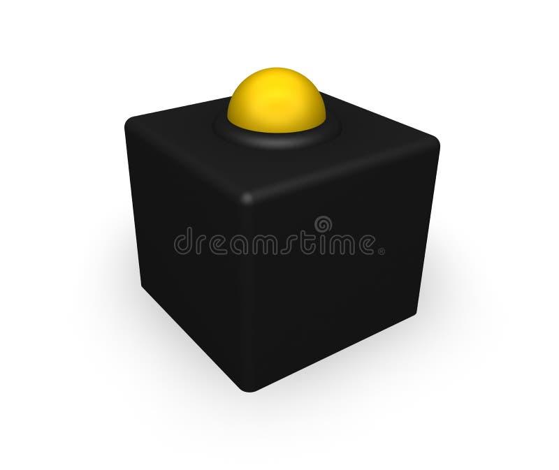 желтый цвет кубика шарика черный иллюстрация штока