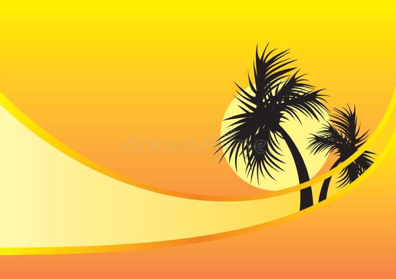 желтый цвет пальм предпосылки стоковые изображения rf