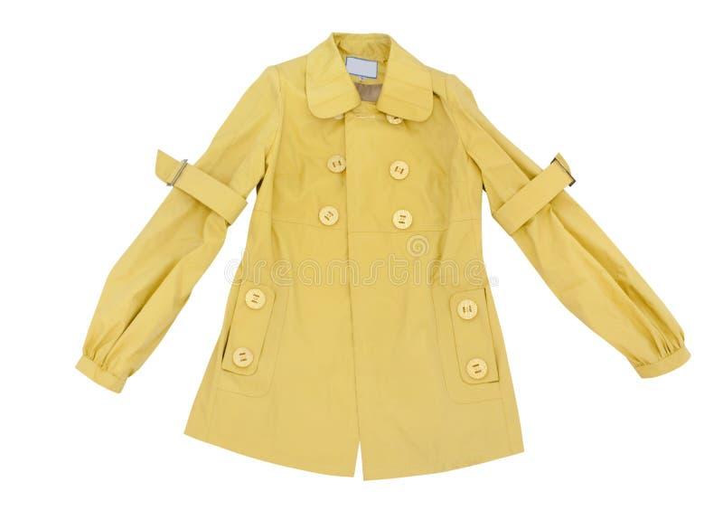 желтый цвет пальто стоковые фотографии rf