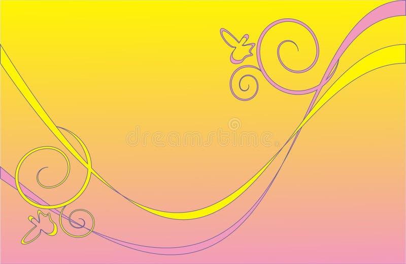 желтый цвет предпосылки розовый Стоковое фото RF