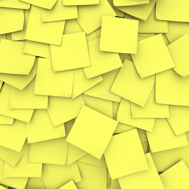 желтый цвет примечания предпосылки липкий бесплатная иллюстрация