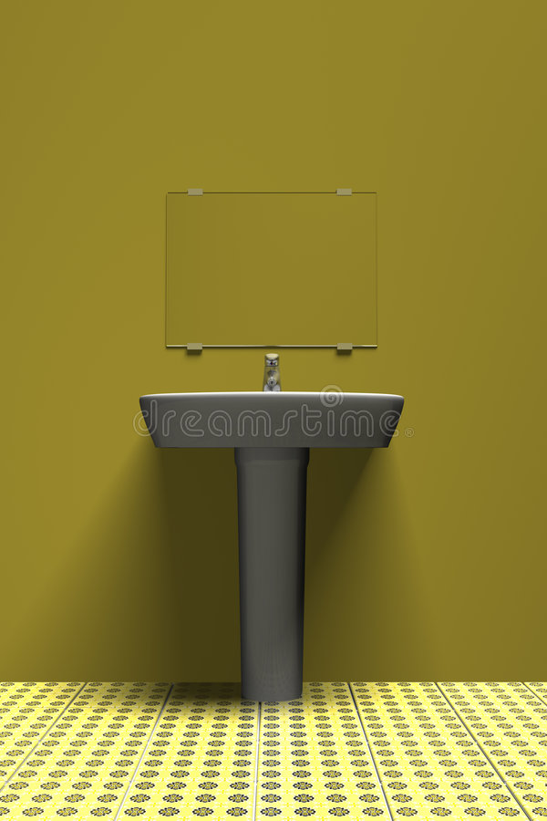 желтый цвет раковины иллюстрация штока