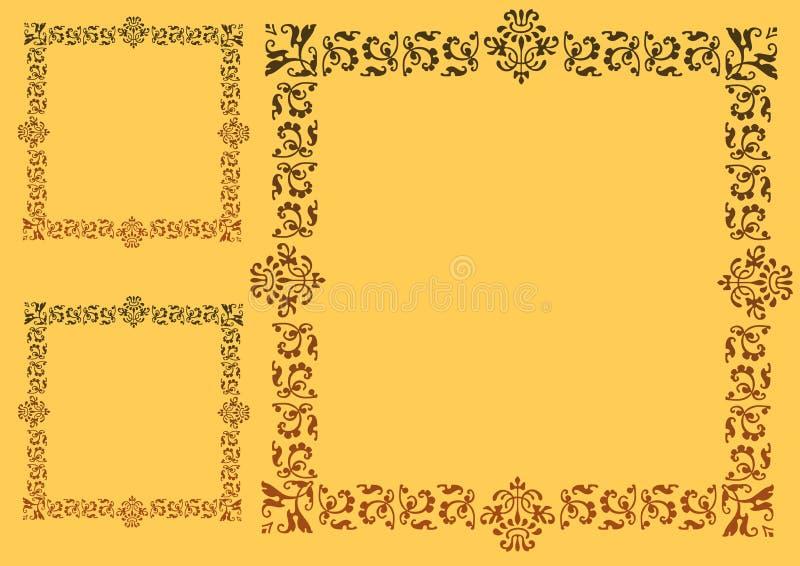 желтый цвет рамки иллюстрация вектора