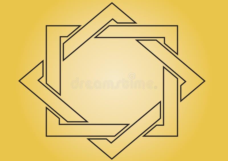 желтый цвет рамки бесплатная иллюстрация