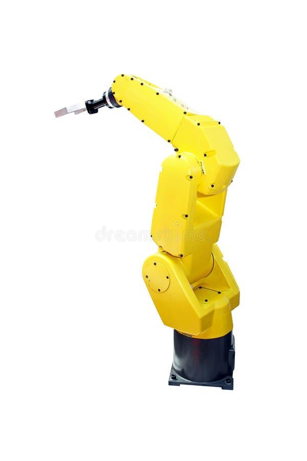 желтый цвет рукоятки робототехнический стоковое изображение rf