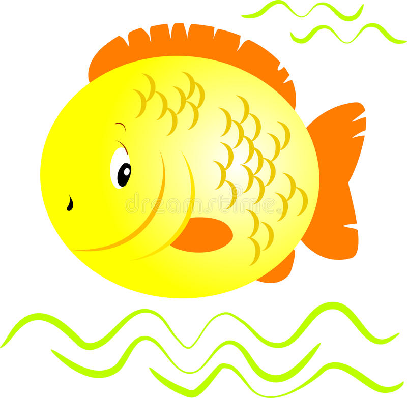 желтый цвет рыб иллюстрация штока
