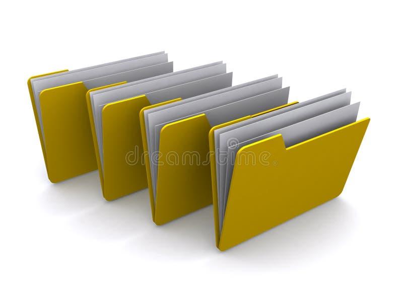 желтый цвет скоросшивателей 4 иллюстрация штока