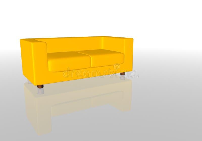 желтый цвет софы Стоковая Фотография