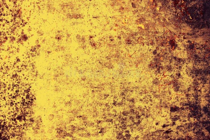 желтый цвет стены grunge фона старый стоковые фотографии rf