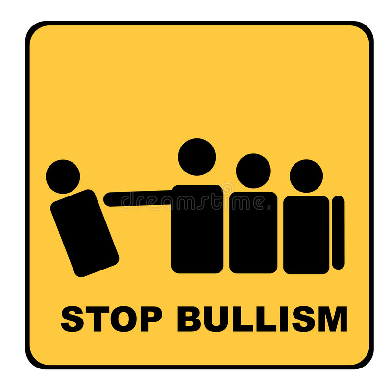 желтый цвет стопа сигнала bullism бесплатная иллюстрация