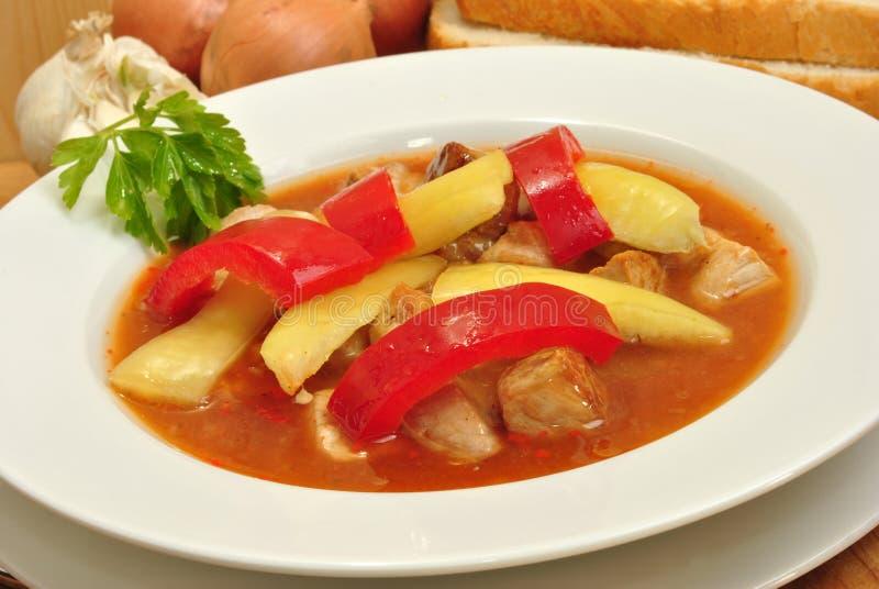 желтый цвет супа паприки гуляша красный стоковая фотография rf