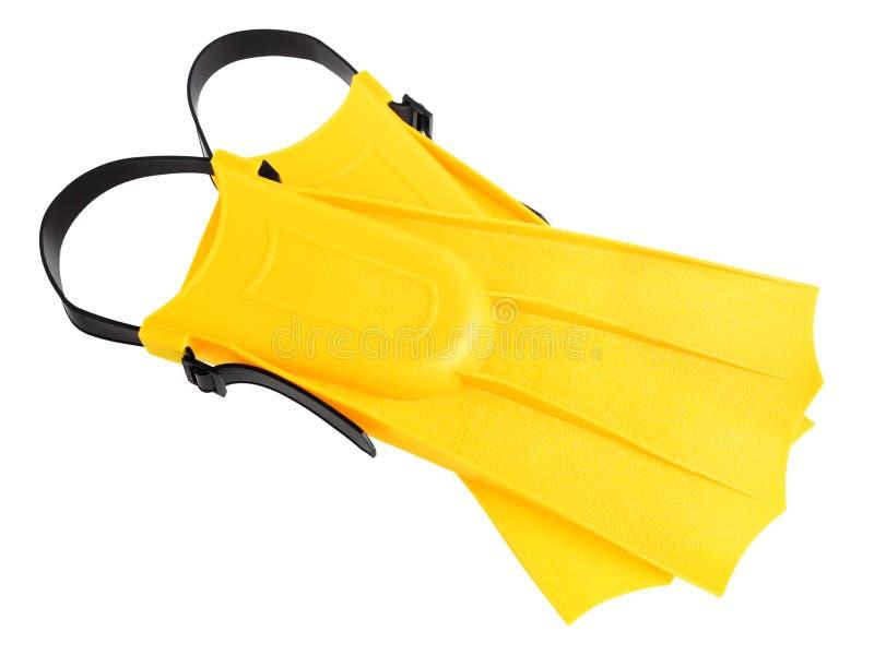 желтый цвет флипперов стоковые изображения rf