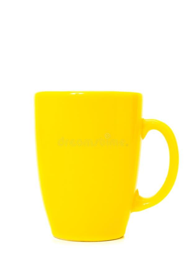 желтый цвет чашки стоковые изображения rf