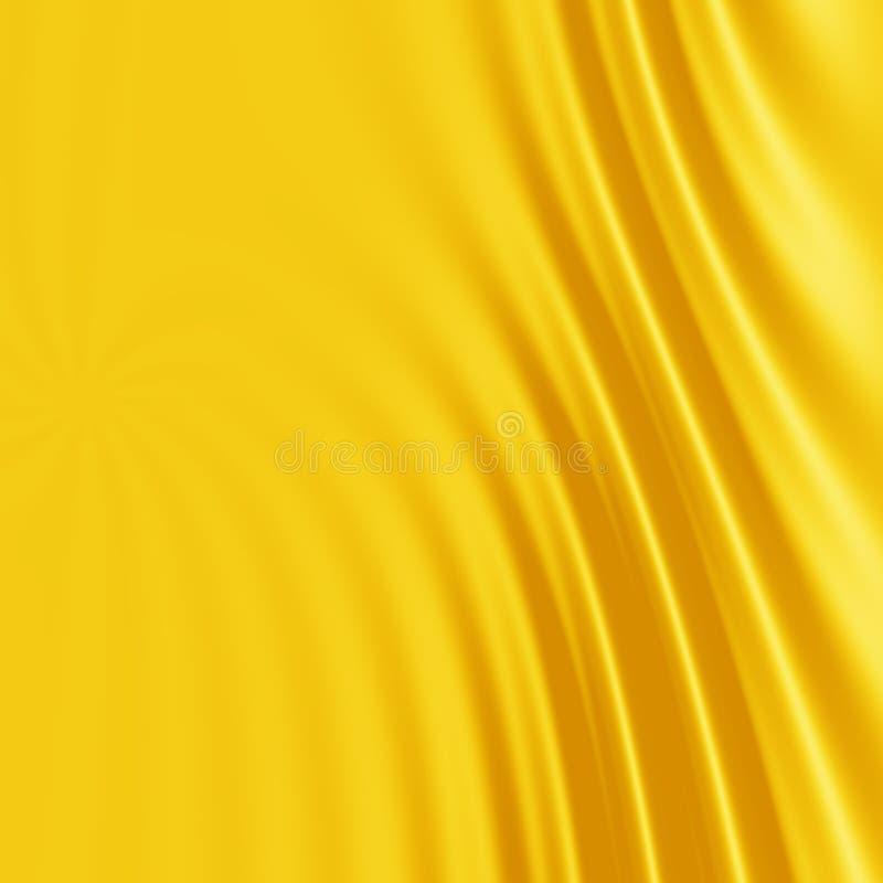 желтый цвет шелка предпосылки иллюстрация штока