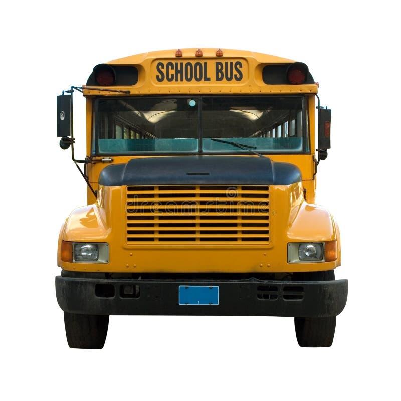 желтый цвет школы шины стоковое изображение