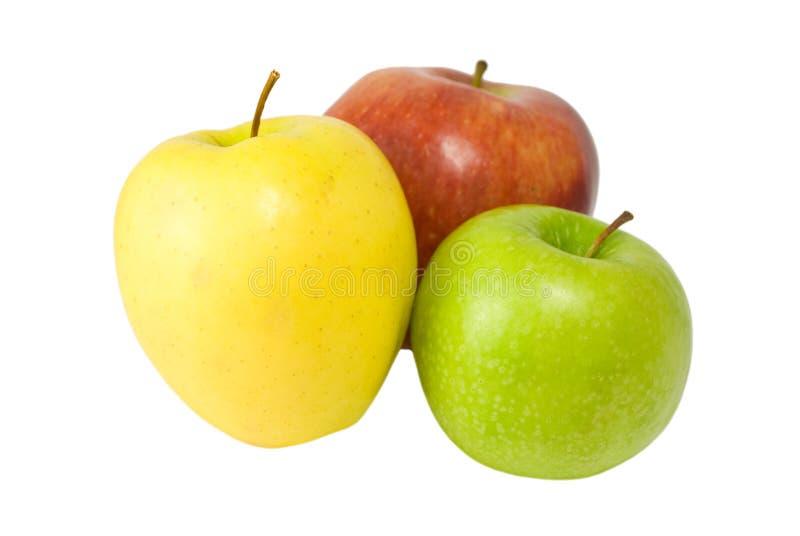 желтый цвет яблок зеленый красный стоковые изображения rf