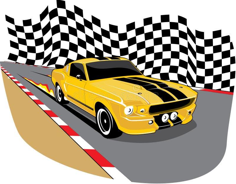 желтый цвет 1967 мустанга бесплатная иллюстрация