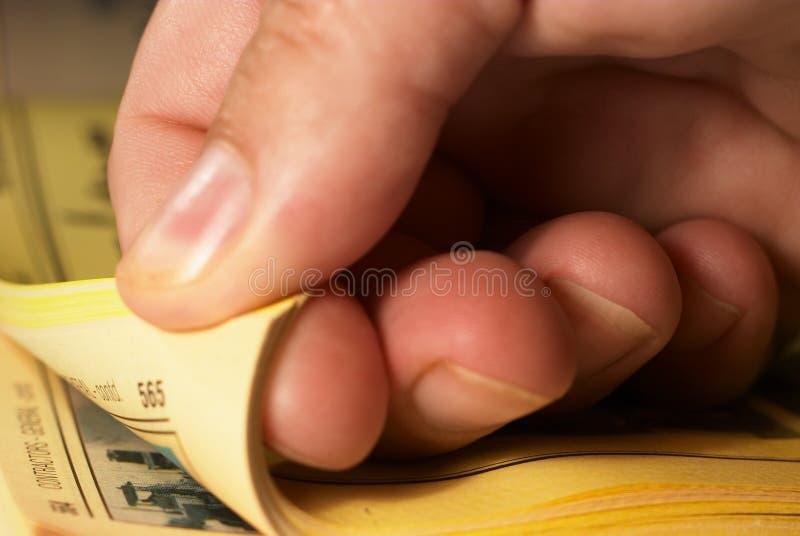 желтый цвет 2 страниц стоковое фото