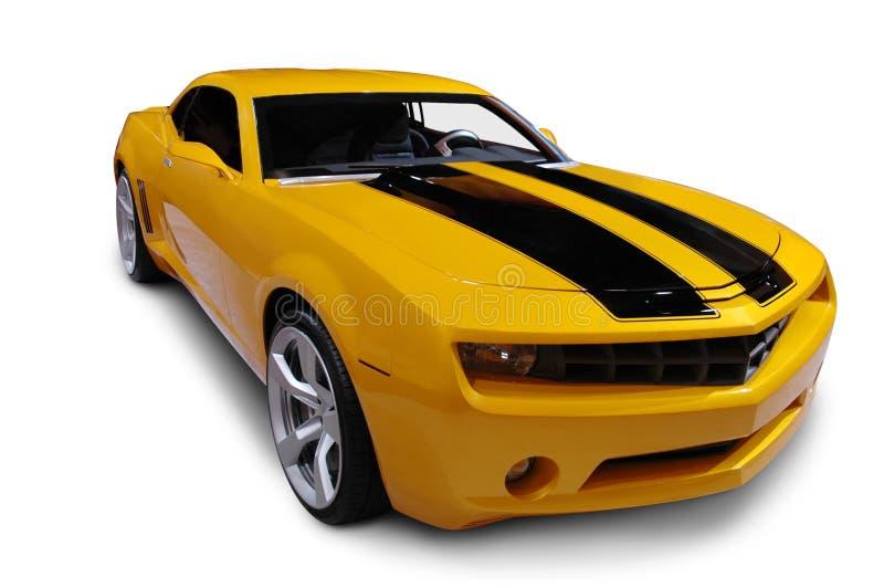 желтый цвет 2009 camaro стоковое изображение rf