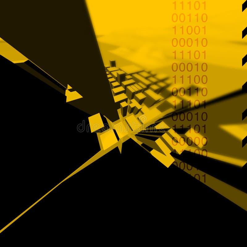 желтый цвет c1ty иллюстрация вектора