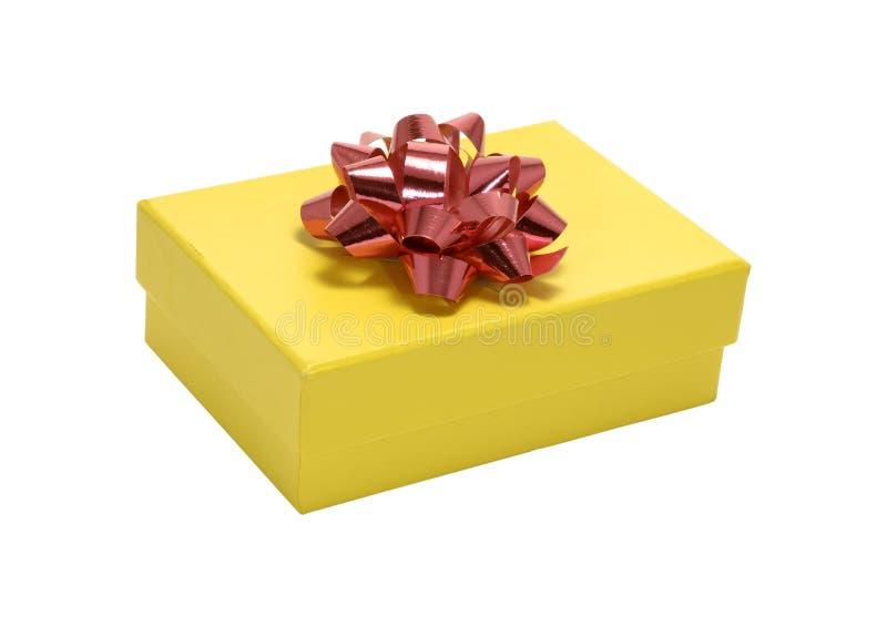 желтый цвет giftbox стоковое фото