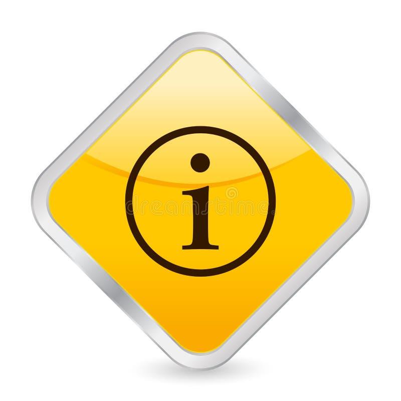 желтый цвет info иконы квадратный бесплатная иллюстрация