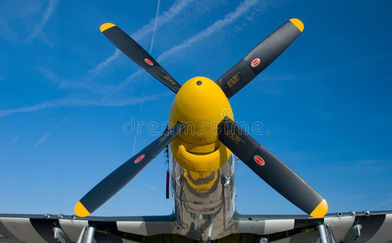 желтый цвет p носа 51 мустанга стоковое фото rf