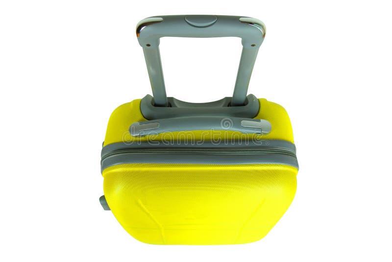 Желтый чемодан перемещения стоковая фотография