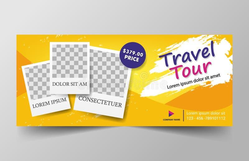 Желтый шаблон знамени корпоративного бизнеса треугольника конспекта перемещения, горизонтальный шаблон плана знамени дела рекламы иллюстрация штока