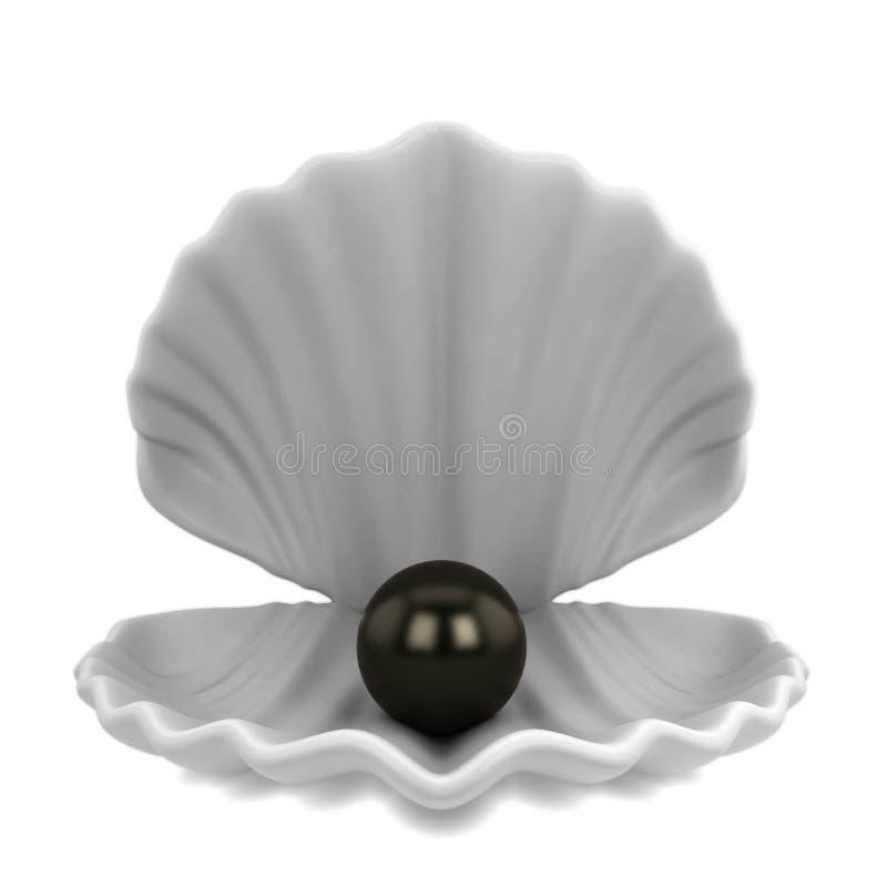 Жемчуг внутри seashell бесплатная иллюстрация