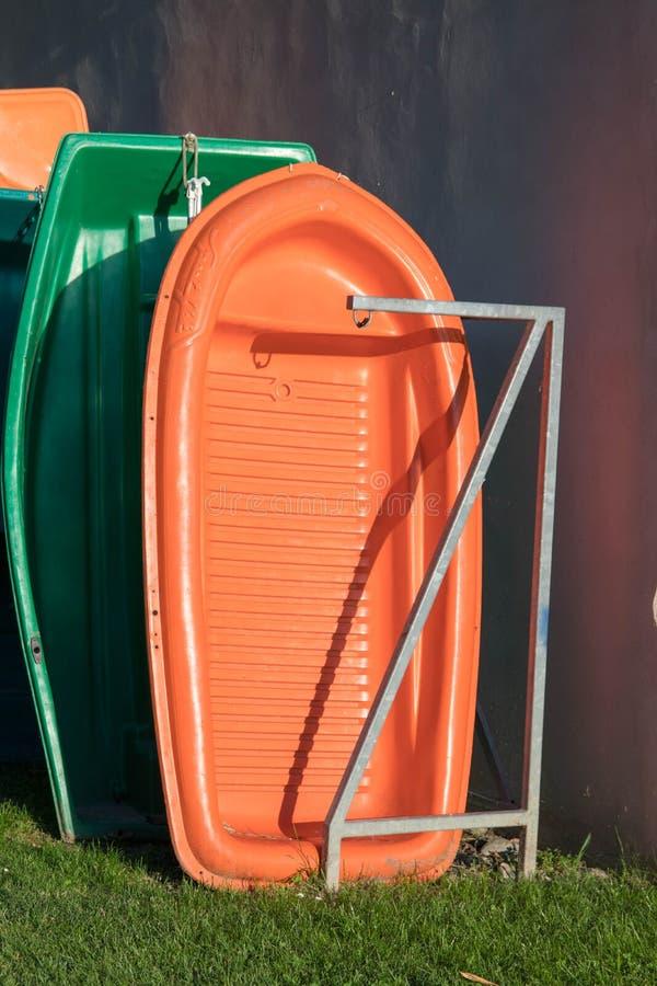 Женева/Швейцария -20 06 2018: План-график меньшая строка шлюпки ремесла пластичная аккуратная стоковая фотография rf