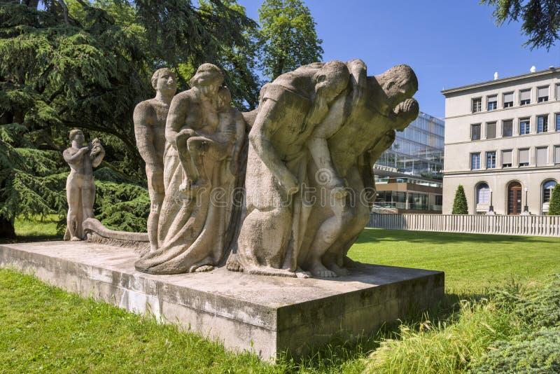 Женева, Швейцария, строить WTO Всемирной Торговой Организации стоковые изображения rf