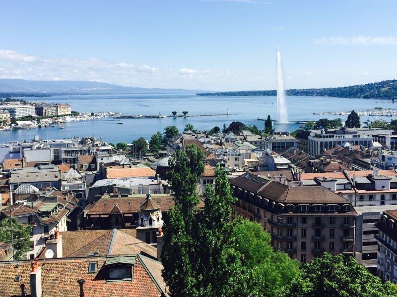 Женевское озеро Швейцария стоковое изображение