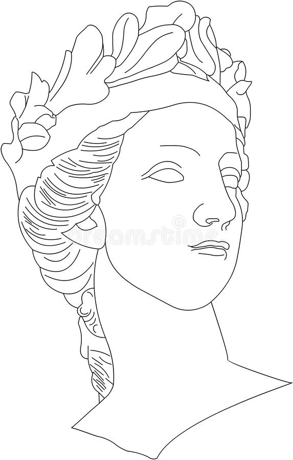 женская головка стоковое фото