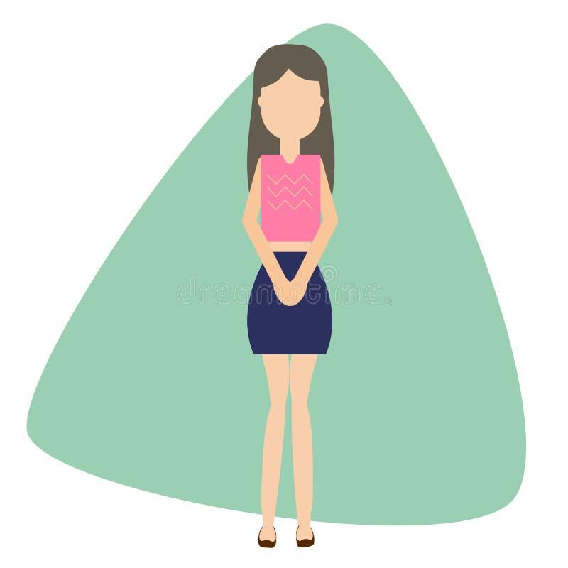 Женская концепция мочевыделительного incontinence иллюстрация штока