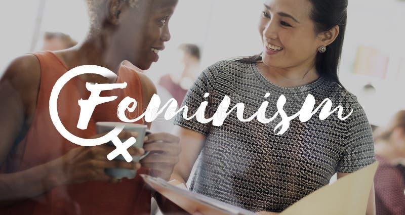 Женская концепция равных возможностей женщин стоковое фото rf