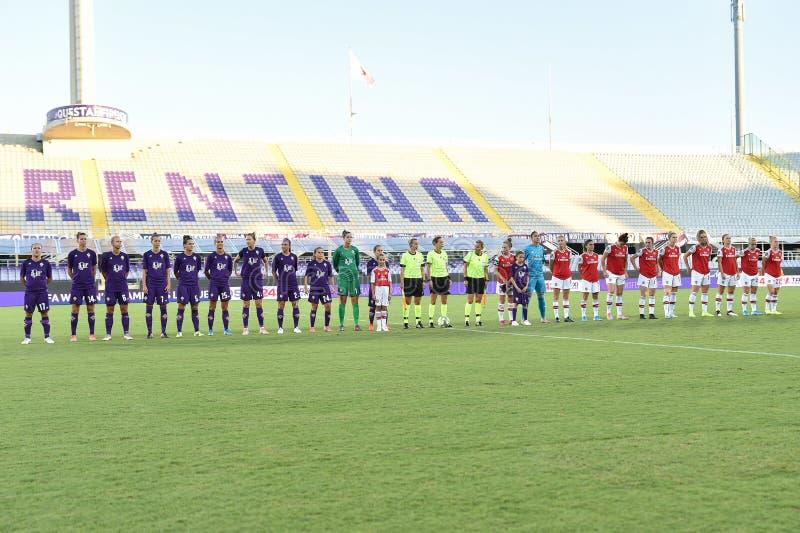 Женская лига чемпионов по футболу против Арсенала стоковая фотография