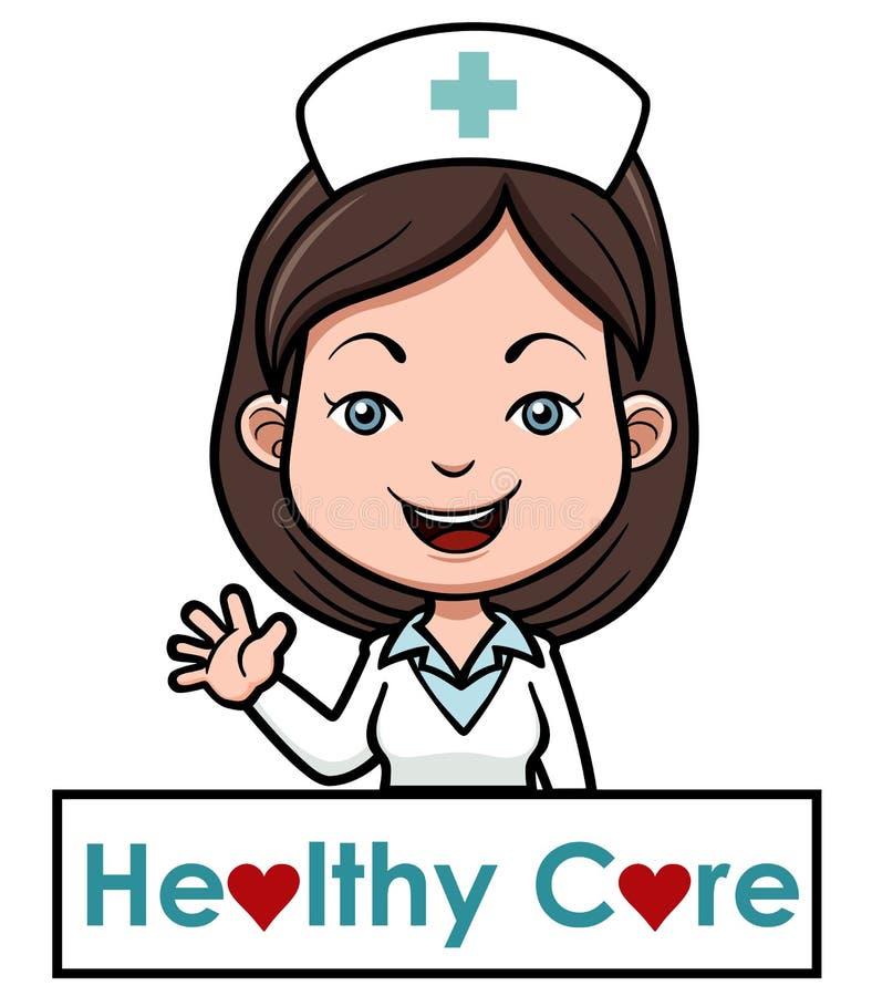 Женская медсестра иллюстрация вектора