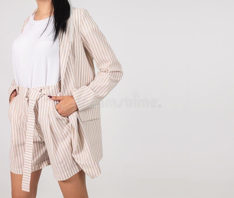 Женская одежда на белом фоне стоковые изображения rf