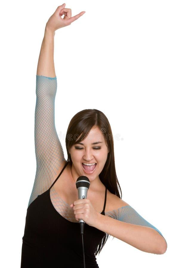 женская певица стоковое изображение rf
