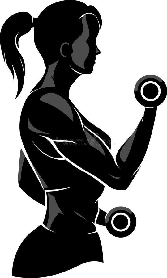 Женская разминка фитнеса иллюстрация штока
