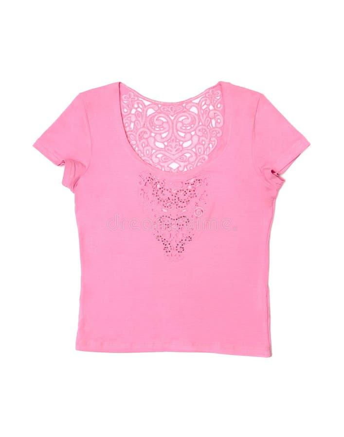 женская розовая рубашка t стоковое фото