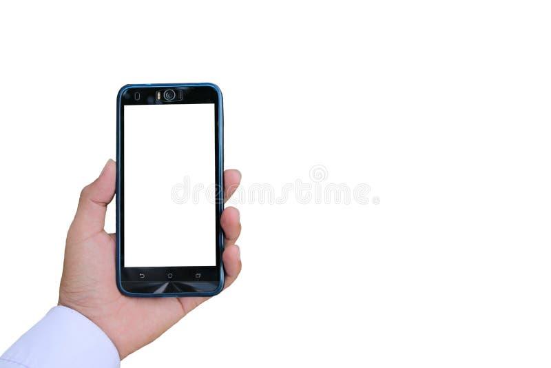 Женская рука держа предпосылку smartphone стоковые фотографии rf