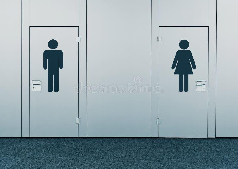 Женская уборная и комната людей стоковая фотография rf