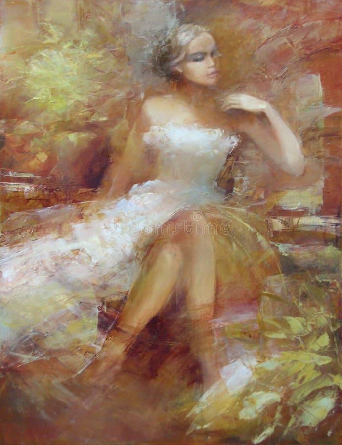 Женская, handmade картина иллюстрация штока
