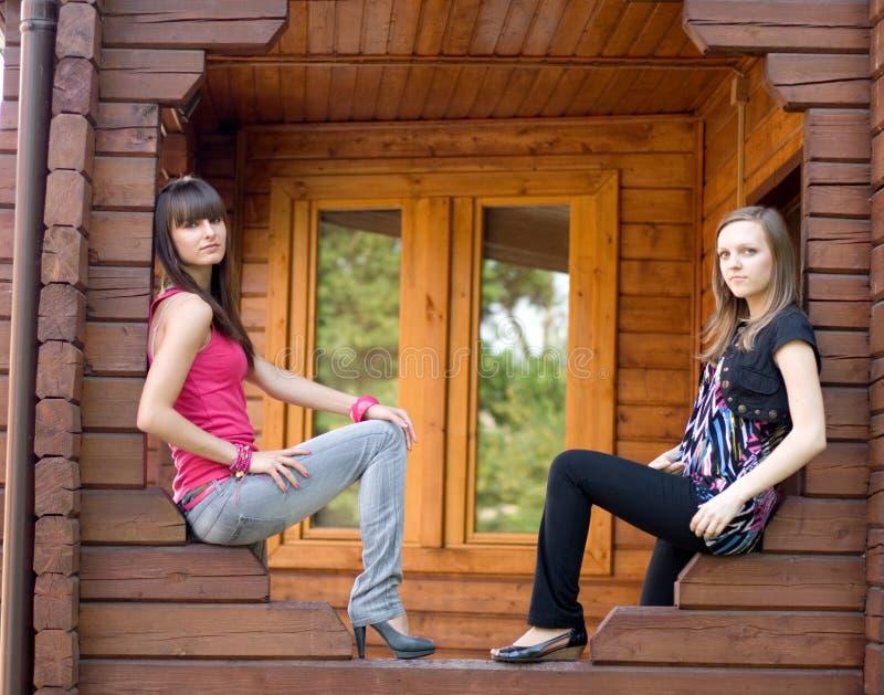 женские друзья 2 стоковое изображение rf