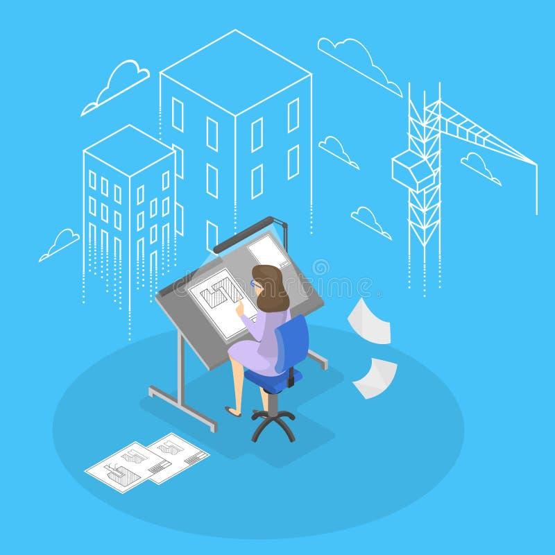 Женские инженер и architecturer бесплатная иллюстрация