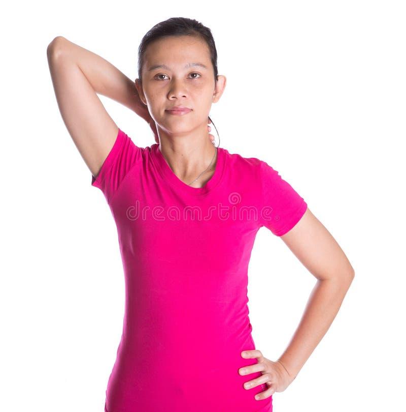 Женский азиат работая II стоковые фото