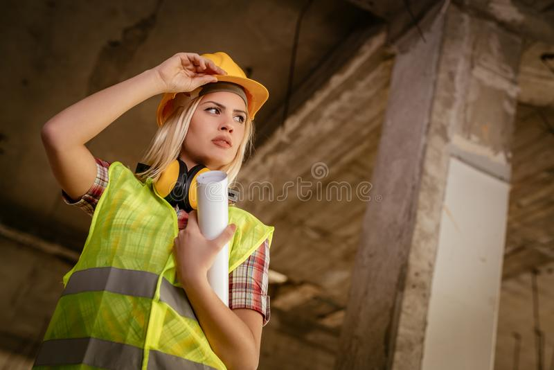Женский архитектор стоковое изображение rf
